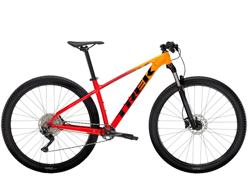 2021 Trek Marlin 7 Mens Hardtail Mountain Bike In Marigold/red Fade