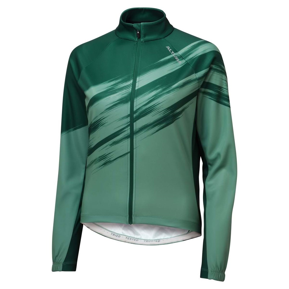 Altura 2021 Airstream Long Sleeve Womens Jersey In Dark Green And Green