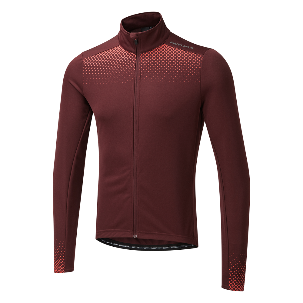 Altura Nightvision Long Sleeve Mens Jersey In Maroon And Orange