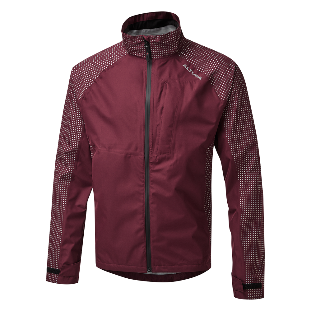Altura Nightvision Storm Mens Waterproof Jacket In Maroon