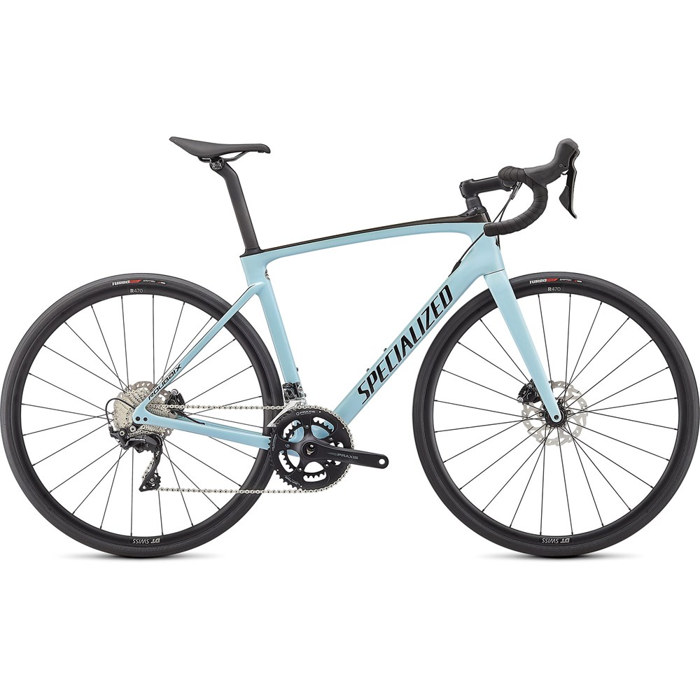Sport, Leisure & Hobbies 2021 Specialized Roubaix Sport Road Bike in Gloss Ice Blue and Carbon