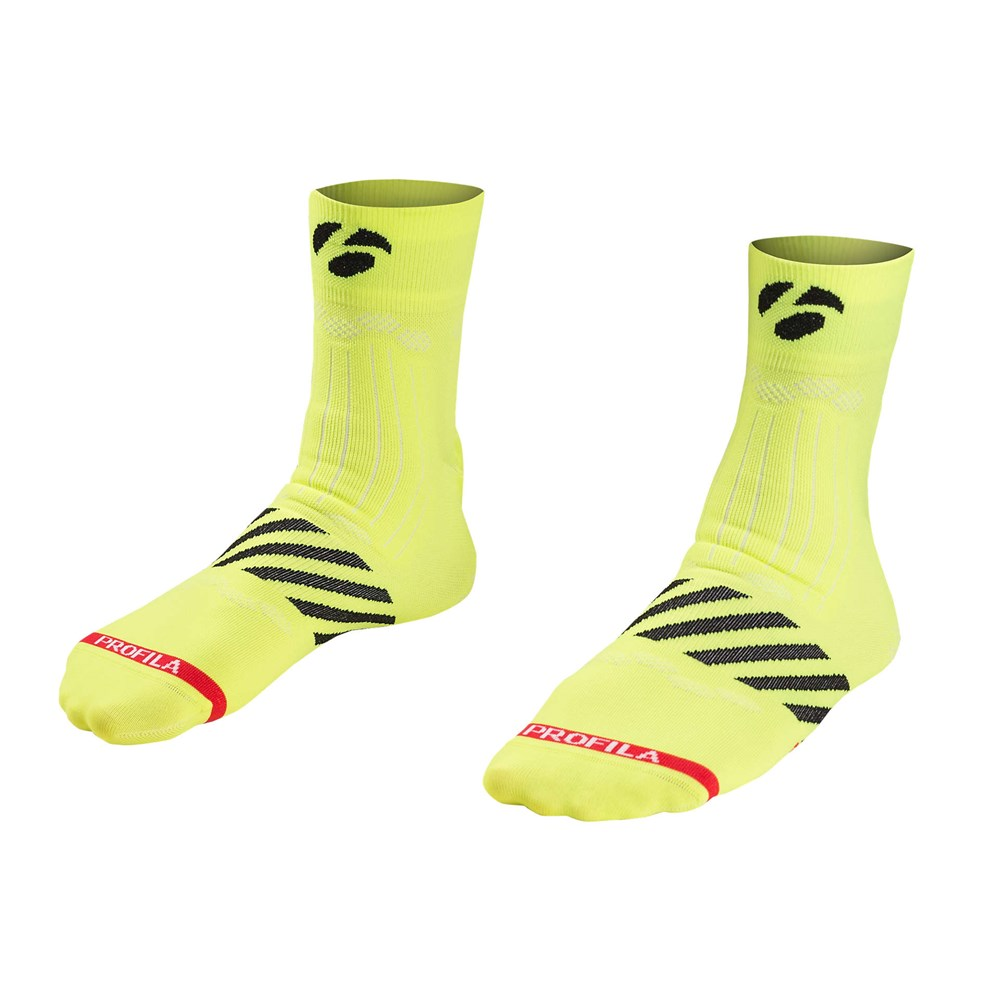 2019 Bontrager Velocis 2.5 Inch Cycling Sock In Yellow