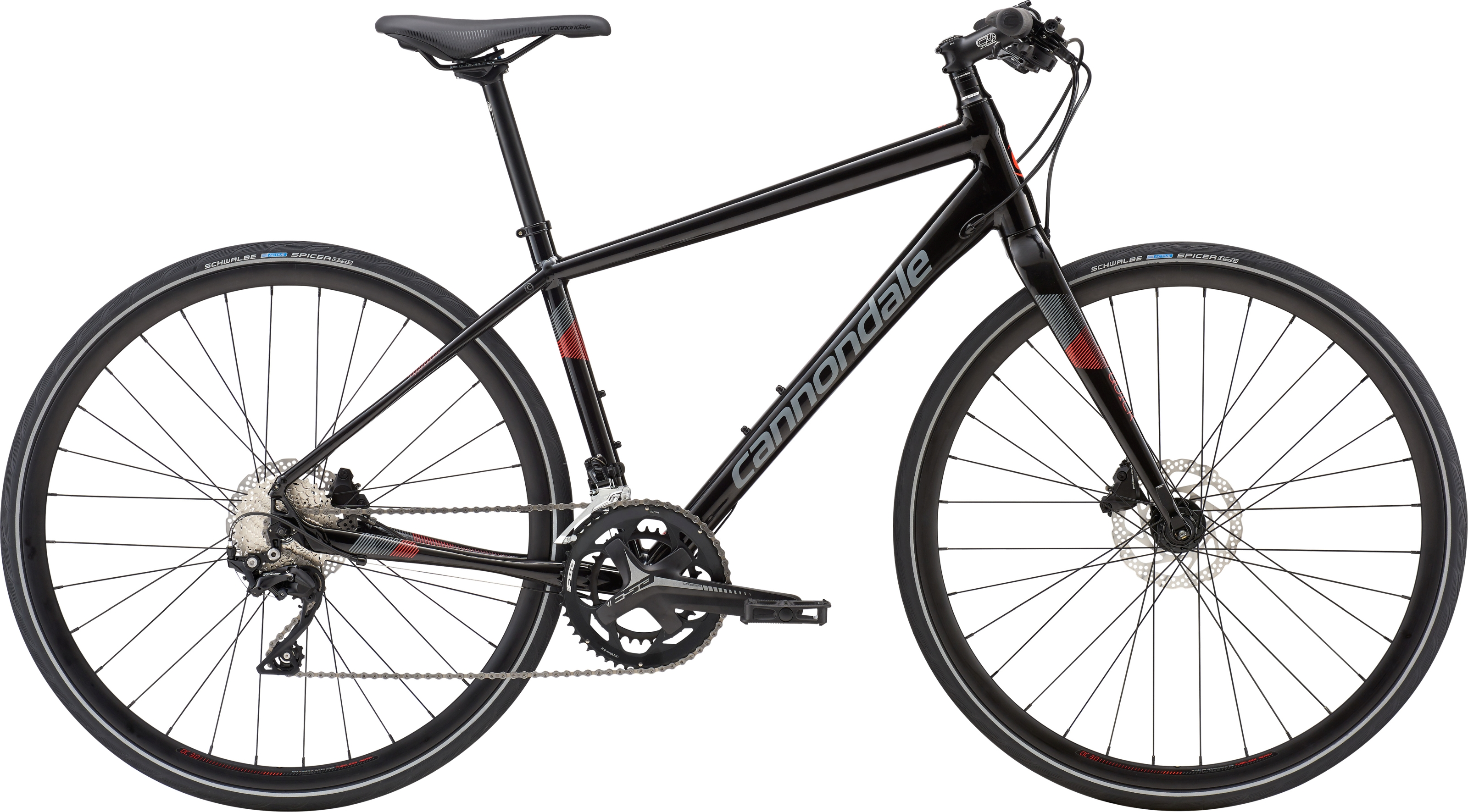 7e5984ff499 Cannondale Quick Disc 1 2019 Womens Hybrid Bike Black £999.99